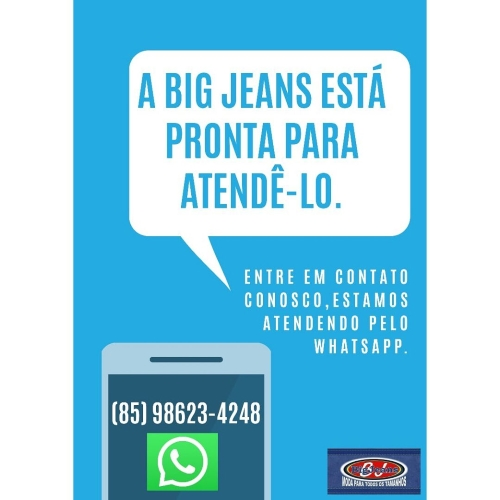 Big Jeans agora com delivery