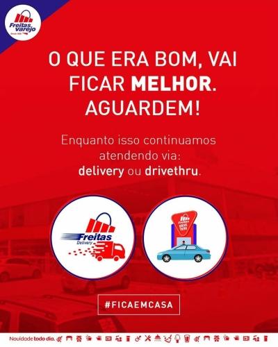 Freitas Varejo delivery e drive thru