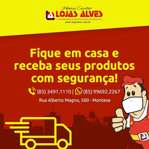 Loja Alves agora com delivery