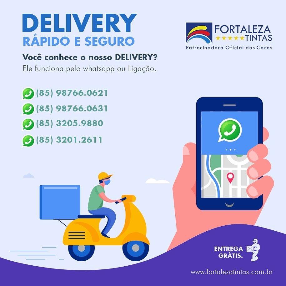 Fortaleza Tintas agora com delivery
